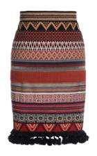 Moda Operandi Lena Hoschek Loulou Fringe-trimmed Jacquard Ribbon Skirt