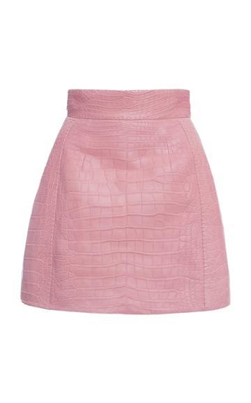 Moda Operandi Dolce & Gabbana Crocodile Mini Skirt Size: 36