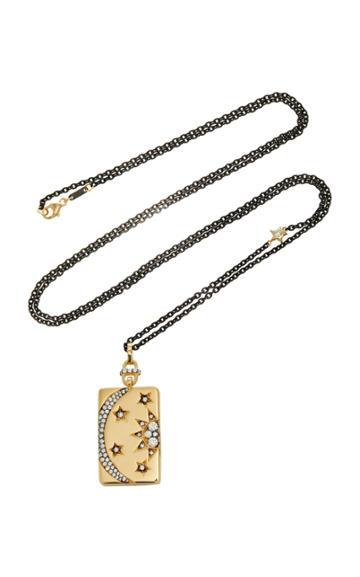 Monica Rich Kosann Sun Moon And Stars Diamond Locket 32 Necklace