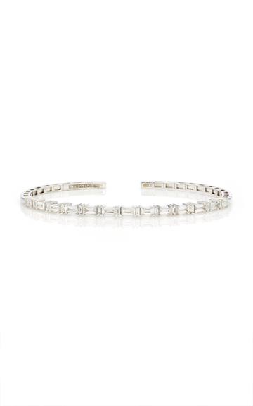 Moda Operandi Suzanne Kalan 18k White Gold Diamond Horizontal Bangle