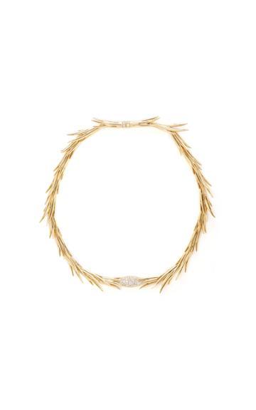 Hueb Gold Palm Necklace