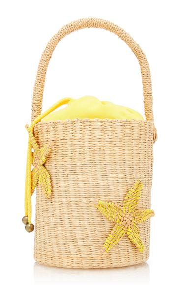 Sensi Studio Starfish Straw Mini Bucket Bag
