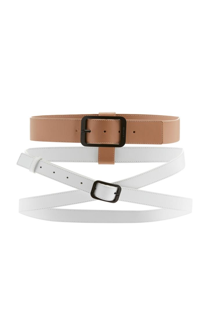Lanvin Double Buckle Belt