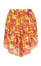 Adriana Degreas Fruits Print Pleated Shorts