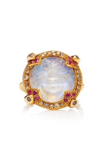 Sylvie Corbelin One-of-a-kind Carved Moonstone Ring