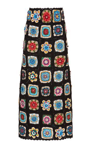 Dolce & Gabbana Hand-woven Knit Skirt