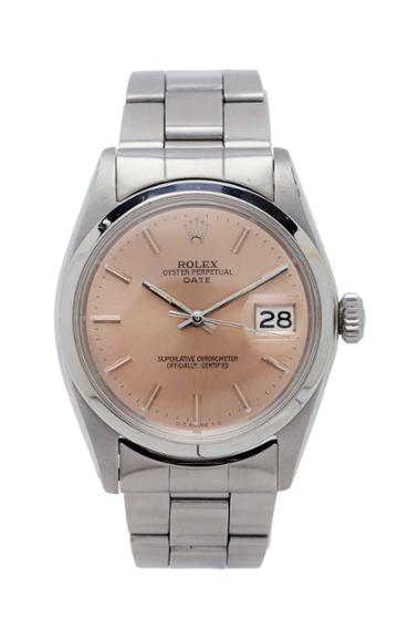 Vintage Watches Rolex Date Salmon Dial
