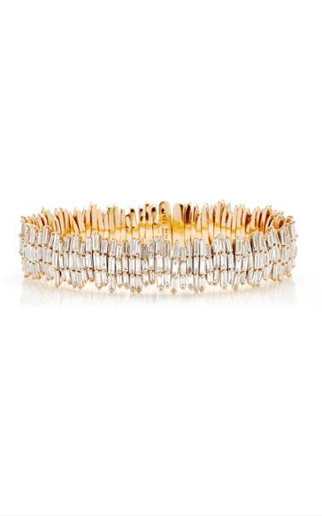 Moda Operandi Suzanne Kalan 18k Rose Gold Triple Layer Fireworks Cuff