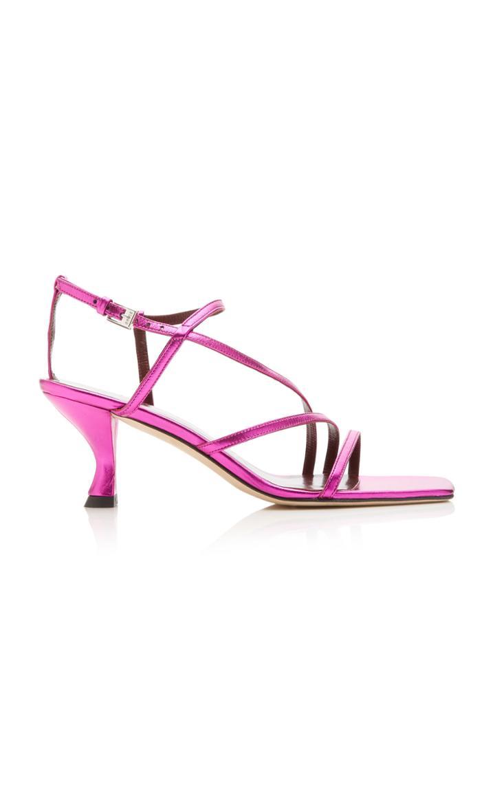 Moda Operandi Staud Gita Metallic Sandals