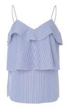 Goen.j Ruffled Cotton Stripe Camisole