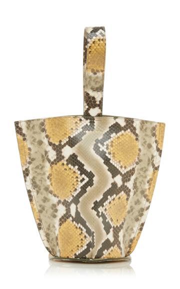 Moda Operandi Rejina Pyo Pippa Snake-effect Leather Top Handle Bag