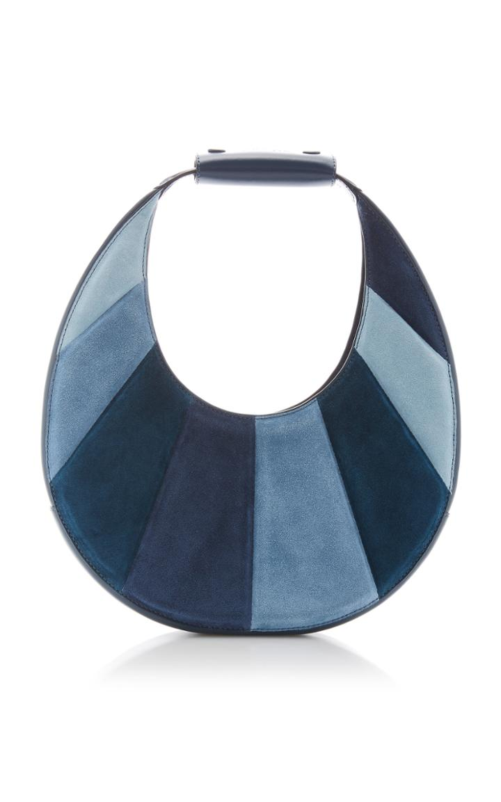 Moda Operandi Staud Moon Striped Suede Shoulder Bag