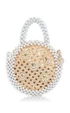 Moda Operandi Rosantica Alida Beaded Circle Top Handle Bag