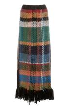 Tuinch Wool Plaid Maxi Skirt