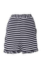 Allude Striped Mini Shorts