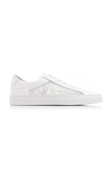 Common Projects Achilles Low Summer Edition Leather And Mesh Sneakers