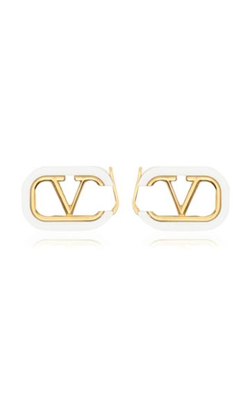 Valentino Valentino Garavani Gold-tone And Enamel Earrings