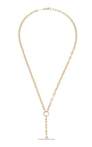 Zoe Chicco 14k Yellow Gold & Diamond Toggle Lariat Necklace