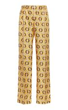Moda Operandi For Restless Sleepers Etere Link-print Silk Wide-leg Pants Size: M