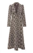 Co Wool Blend Printed Coat