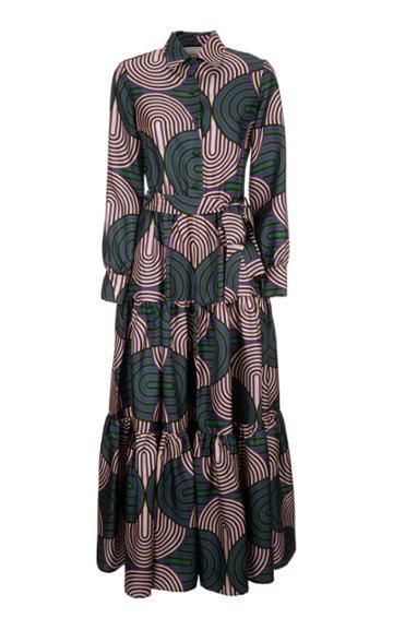 La Doublej Bellini Printed Silk Maxi Dress