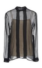 Prada Silk Chiffon Striped Top