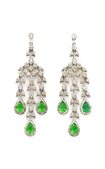 Moda Operandi Stephanie Windsor One Of A Kind 19th Century Paste Girandole Earrings