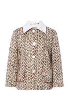 Prada Cropped Tweed Jacket