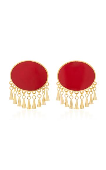 Silhouette M'o Exclusive Gold-plated Enamel Earrings
