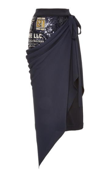 Monse Sequins Drape Skirt
