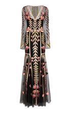 Temperley London Rosy Organza Overlay Dress