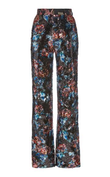 Moda Operandi Rodarte Sequined Straight-leg Trousers
