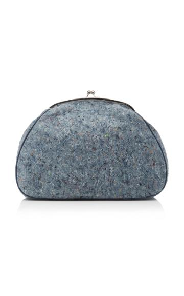 Marina Moscone Oversized Recycled Denim Coin Purse
