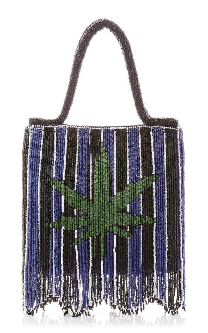 Moda Operandi Staud Ruby Stripe Fringe Top Handle Bag