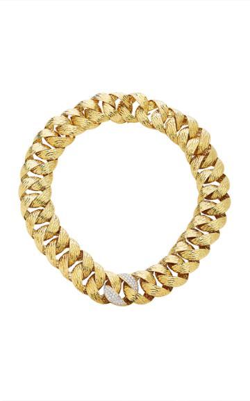 Simon Teakle 18k Textured Gold And Diamond Necklace