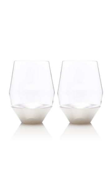 Puiforcat Set-of-two Silver White Wine Glasses