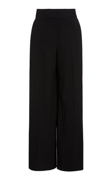 Oscar De La Renta Pintucked Wide-leg Pants