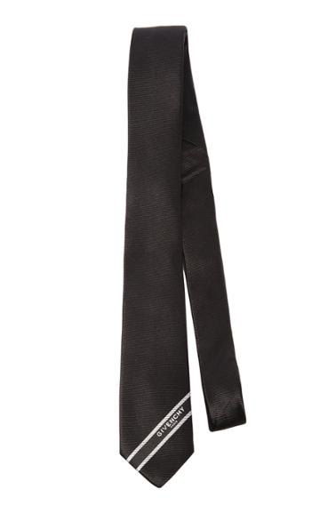 Givenchy Ties Silk Logo Tie