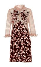 Bottega Veneta Floral Ruffled Silk Mini Dress