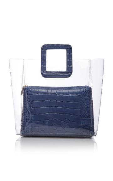 Staud Shirley Croc-effect Leather Bag