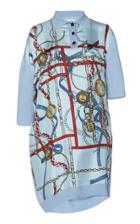 Moda Operandi Lanvin Printed Knit Satin Polo Dress Size: Xs