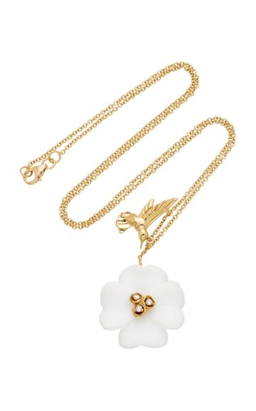 Brent Neale M'o Exclusive Clover & Hummingbird Charm Necklace