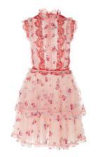 Costarellos Sleeveless Tiered Mini Dress