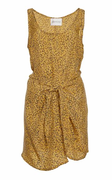 Anemone Sleeveless Cupro Wrap Dress