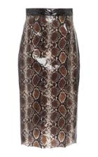 Christian Siriano Python Print Pencil Skirt