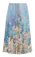 Luisa Beccaria Floral Print Chiffon Skirt