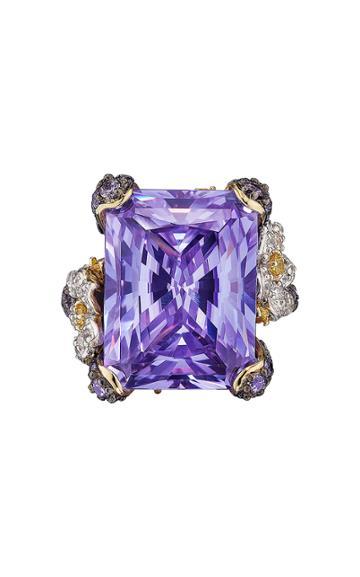 Moda Operandi Anabela Chan 18k Rhodium & Yellow Gold Lilac Cinderella Ring