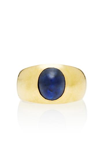 Toni + Chlo Goutal One-of-a-kind Gypsy Cabochon Sapphire Ring