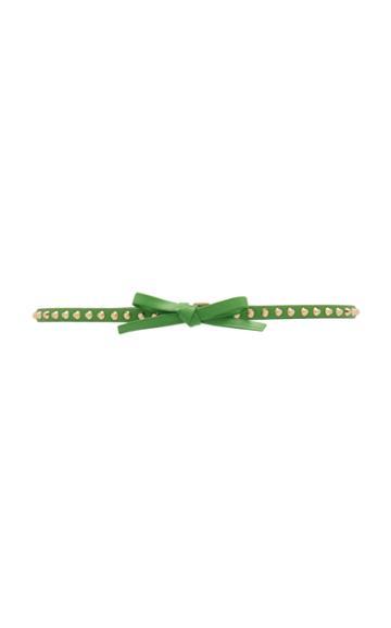 Prada Bow-detailed Studded Leather Belt