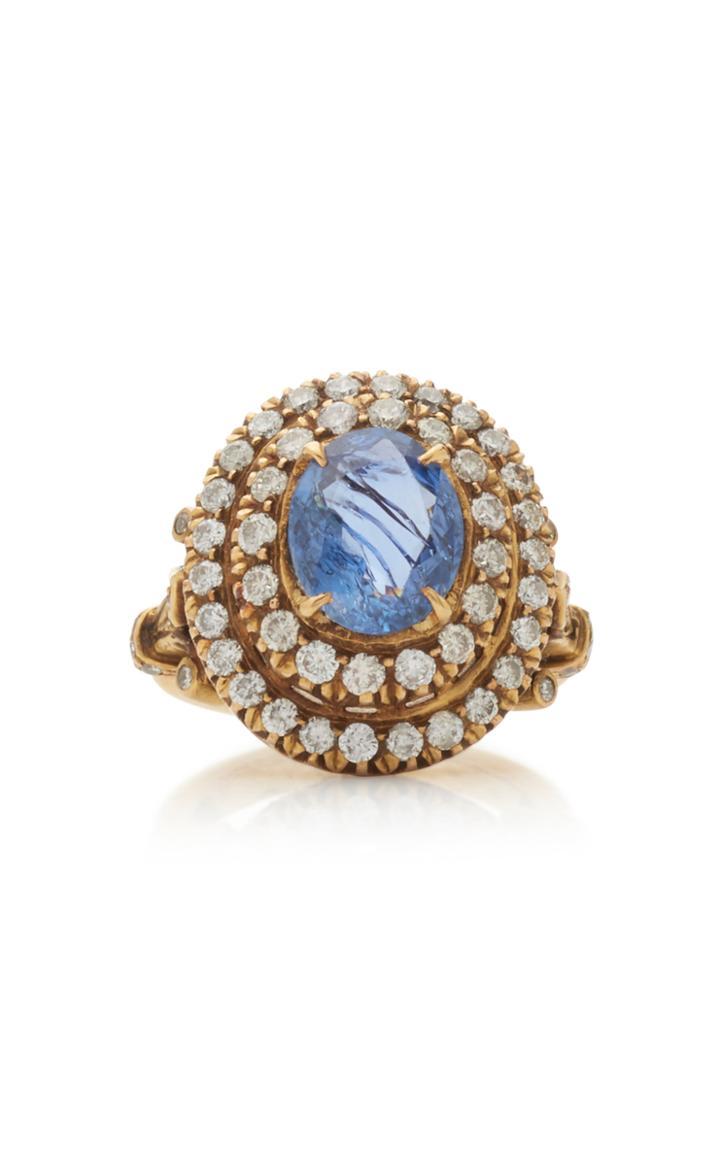 Amrapali 18k Gold Sapphire And Diamond Ring